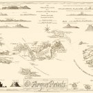 Virgin Islands Danish West Indies 1775 US and British map by Jefferys