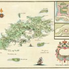St Thomas Danish West Indies US Virgin Islands plantation 1772 Caribbean map