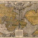 World map 1531 first with Antarctic uniuersi orbis descriptio by Fine Finé