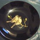 Black Satin Phenolic Couroc Hand Inlaid Serving Dish #300134