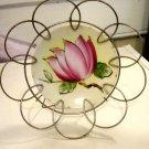 Small Ardalt Lotus Flower Plate in Wire Frame Holder #300127