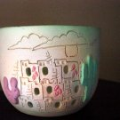 1980s Earthworks Pottery Bowl of Indian Pueblo #300107