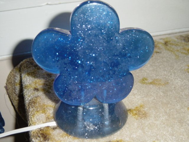 Blue Sparkle Gel Flower Night Light #300529
