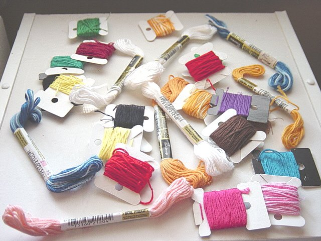 Eight Six Strands and 19 Square Embroidery Cotton Floss #300611