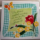 "Hallmark 8"" Garden Memories Tile Plaque    #300627"