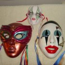 Set of Three Wall Decor Masks One Vintage at Periwinkles #300639