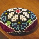 Small Red, White, Blue Beaded Egg at Periwinkles  #300670