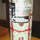 3 x 6 Christmas Poinsettia Glow Pillar Candle #300673