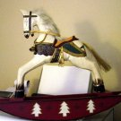 Christmas Wooden Wal-Mart Rocking Horse 16.5  Inches High#300750