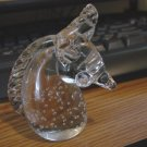 Clear as Crystal Hand Blown Unicorn Figurine Paperweight #300868