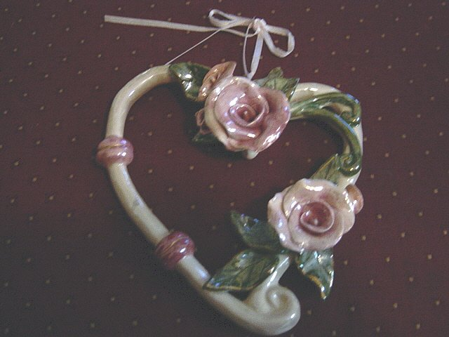 Blue Sky Heather Goldminc Rose Wreath Wall Art #300875
