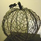 Fall Halloween Decoration Wire Pumpkin at Periwinkles #300888