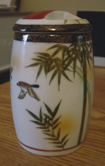 Beautiful Small Tropical Birds and Palms Ginger Jar    #300959