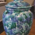 Beautiful Blues and Green Swirls Ginger Jar  #300960