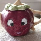 Small Happy Smiling Face Red Berry Giftco Teapot #301023