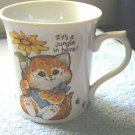 1983 It's a Jungle in Here Enesco Critter Sitters Mug  #301029