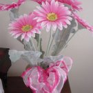 Pink African Gerbera Daisy Flower Arrangement in Pot #301117