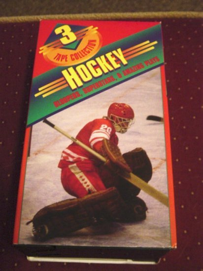 Special 3-Pack VHS Set Hockey Bloopers, Superstars, & Amazing Plays #301199