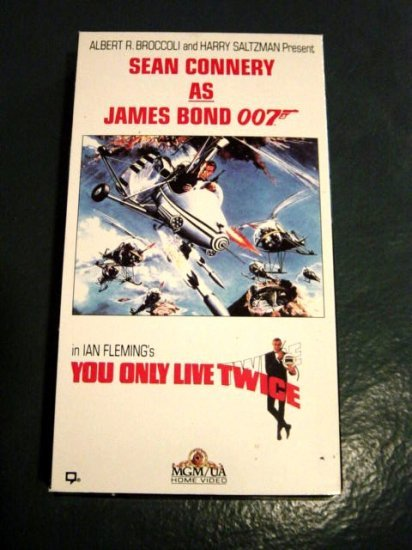 VHS Video Sean Connery as 007 James Bond You Only Live Twice #301204