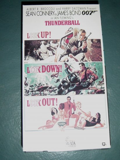 VHS Video Sean Connery as 007 James Bond Thunderball #301206