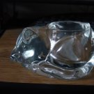 Heavy Clear Glass Sleeping Cat Votive Candleholder #301237