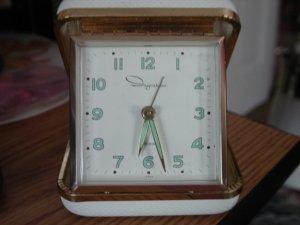 Vintage Luminous Ingraham Square Travel Alarm Clock Japan