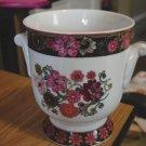 Vera Bradley Andrea by Sadek Mod Floral Pink Pattern Cashe Pot  Bowl  #301279