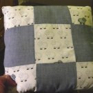 Small Square Blue and White Sheep Throw Pillow #301326