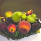Large Centerpiece of Glitter Bead Fruit on Metal Stand #301333