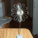 Wire Flower Note Card Photo Holder Metal #301352