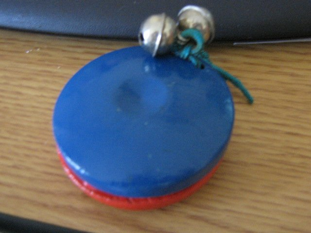 Red and Blue Wooden Hand Castanets with Bells #301473
