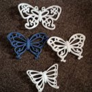 Set of Four (4) Plastic Wall Decor Butterflies #301480