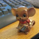 Vintage Josef Originals Christmas Carol Mouse Figurine #301518