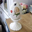 Vintage Hand Painted Arklow Humpty Dumpty Egg on Pedestal #301519