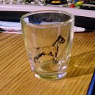 Clear Shot Glass with Boxer Dog Picture    #301524