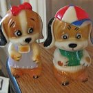 Adorable Girl and Boy Dogs Baklite Salt & Pepper Shakers #301544