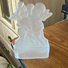 Dayton Hudson Corporation Frosted Glass Candleholder Angel Design  #301605
