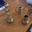 Vintage Miniature Mini Brass Copper Metal Teapots Pitchers Collectibles Made In India #301607