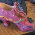 Highly Ornate Rose Pink High Heel Shoe Figurine #301609