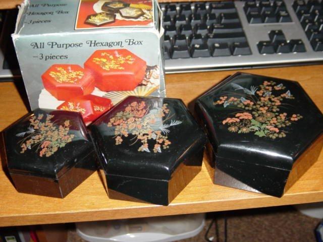 Set of three All Purpose Hexagon Boxes #301622