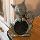 Adorable Pewter Sitting Cat Picture Frame #301627