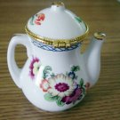 Beautiful Little White Porcelain Floral Teapot #301615