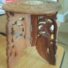 Hand carved Wooden Trivet Stand India Vintage #301625