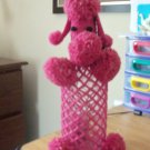 Hand Knit Vintage Pink Poodle Knitted Bottle Cover and Bottle #301631