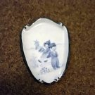 Porcelain Dutch Boy and Girl Wall Decor Signed  #301634
