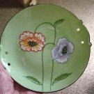 Small Green Decorative Floral Plate Made in Japan #301634a