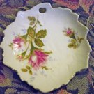 Mint Hand Painted Endo Moss Roses China Trinket Tray Dish #301643