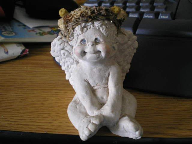 1993 Cast Art Dreamsicles Angel Figurine Signed Kristin #301652