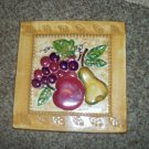 "8"" Square Decorative Ceramic Fruit Motif Kitchen Tile or Trivet  #301657"