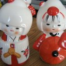 Two Vintage Little Asian Girl Porcelain Figurines #301667